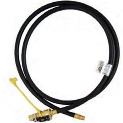 """Picture of Marshall Excelsior  1/4"""" MNPT X QD 1/4"""" FNPT X 72""""L LP Feed Hose MER14TCQD-72P 06-3900"""