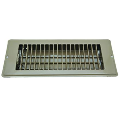 """Picture of AP Products  Brown 4""""W x 10""""L Floor Heating/ Cooling Register w/Damper 013-628 08-0158"""