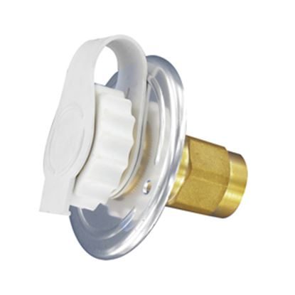 Picture of Valterra  Aluminum Flush Mount Fresh Water Inlet w/Check Valve A01-0172LF 10-0743