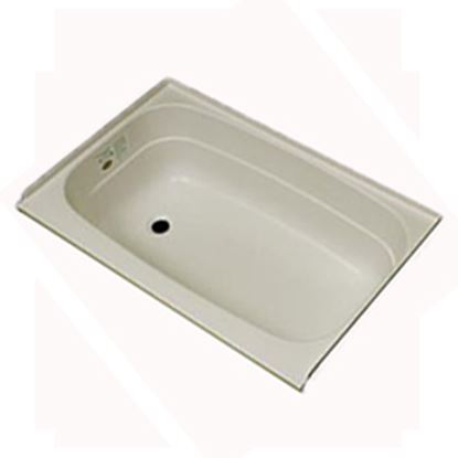"Picture of Specialty Recreation  Parchment 24""x32"" LH Drain ABS Bathtub BT2432PL 10-1852"