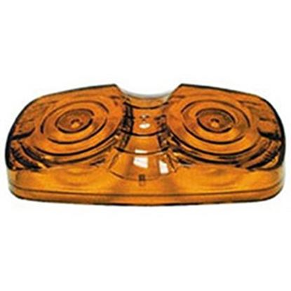 Picture of Peterson Mfg.  Amber Clearance Lens for Peterson Series 138A/B/C/G/R & 139A/R V138-15A 18-1415