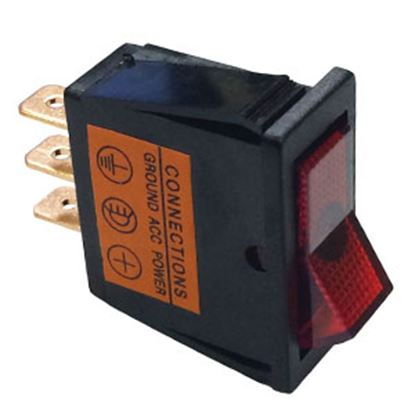 Picture of Battery Doctor  Red 20A Lighted Rocker Switch 20532 19-3661
