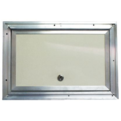 """Picture of Interstate Metal  Colonial White Anodized Aluminum 18"""" X 30"""" Baggage Access Door 22-0615 22-0615"""