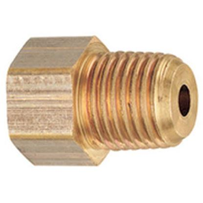 """Picture of MB Sturgis  1/4"""" Female IF X 1/4"""" MNPT Brass LP Adapter Fitting w/Back Check 204120PKG 69-6654"""